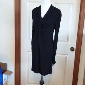 HALSTON HERITAGE little black dress knotted bust